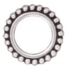 Bead Frame Beaded Round 8mm Antique Silver